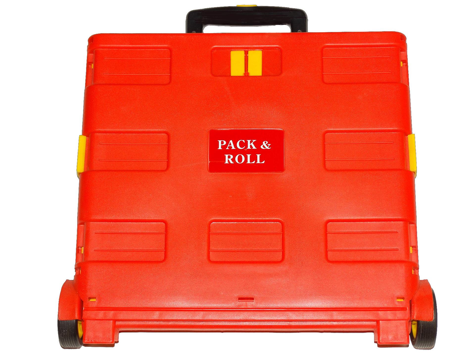 Pack And Roll Katlanır Alışveriş Pazar Arabası - Kırmızı Sarı