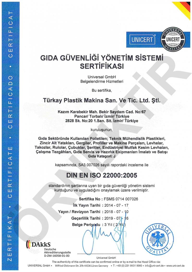 Türkay Et Sebze Kesme Tahtası 30x50x2 cm Polietilen Beyaz