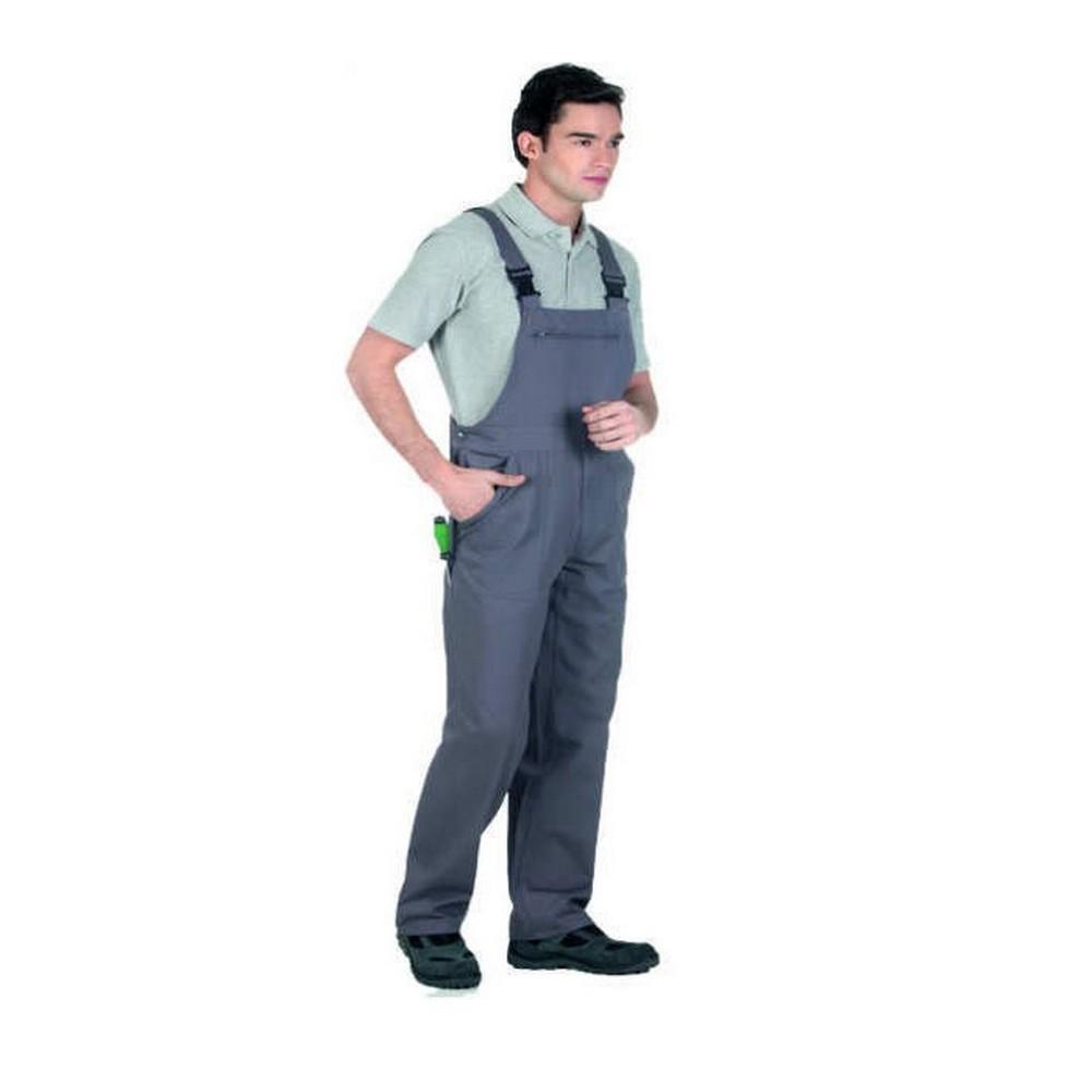 Bahçıvan Tulumu İş Elbisesi Askılı Tulum Gri L