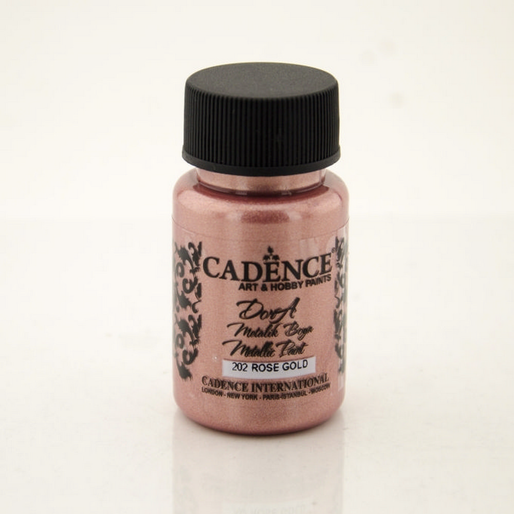 Cadence 202 Rose Gold Dora Metalik Boya 50ML(cc)
