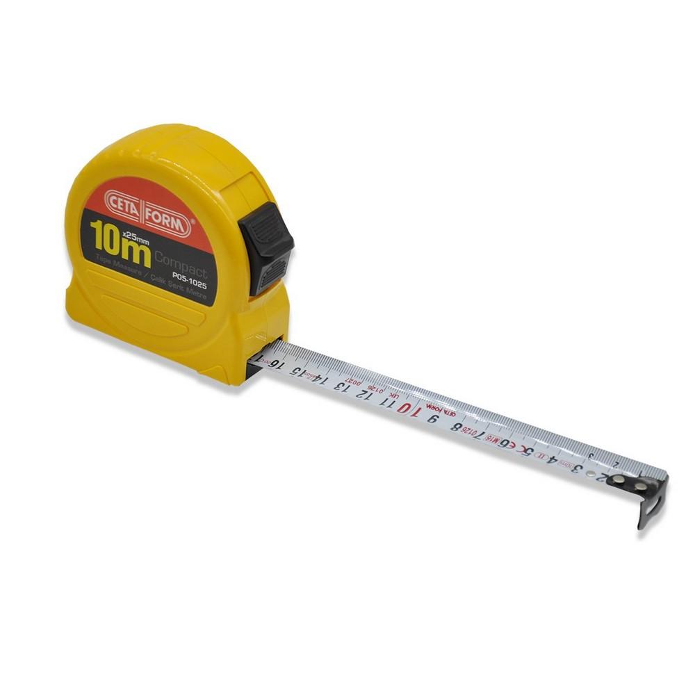 Ceta-Form P05-1025 Compact Şerit Metre 10 Metre 25 mm