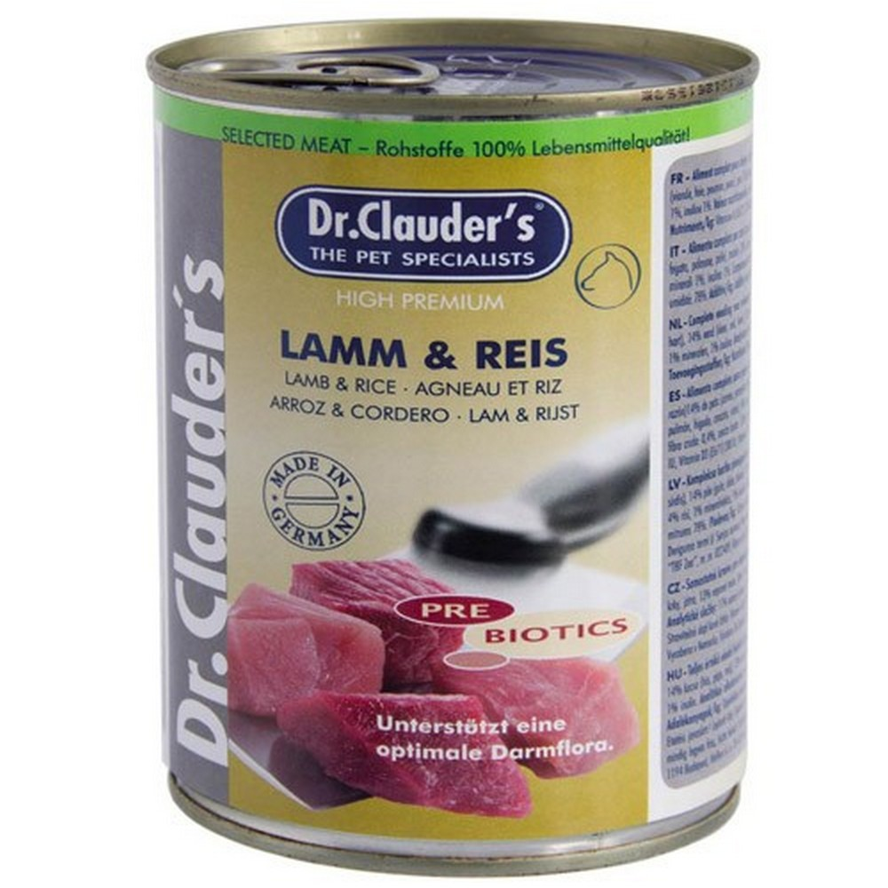 Dr.Clauders Kuzu Eti Pirinçli Tahılsız Köpek Konservesi 800 Gr