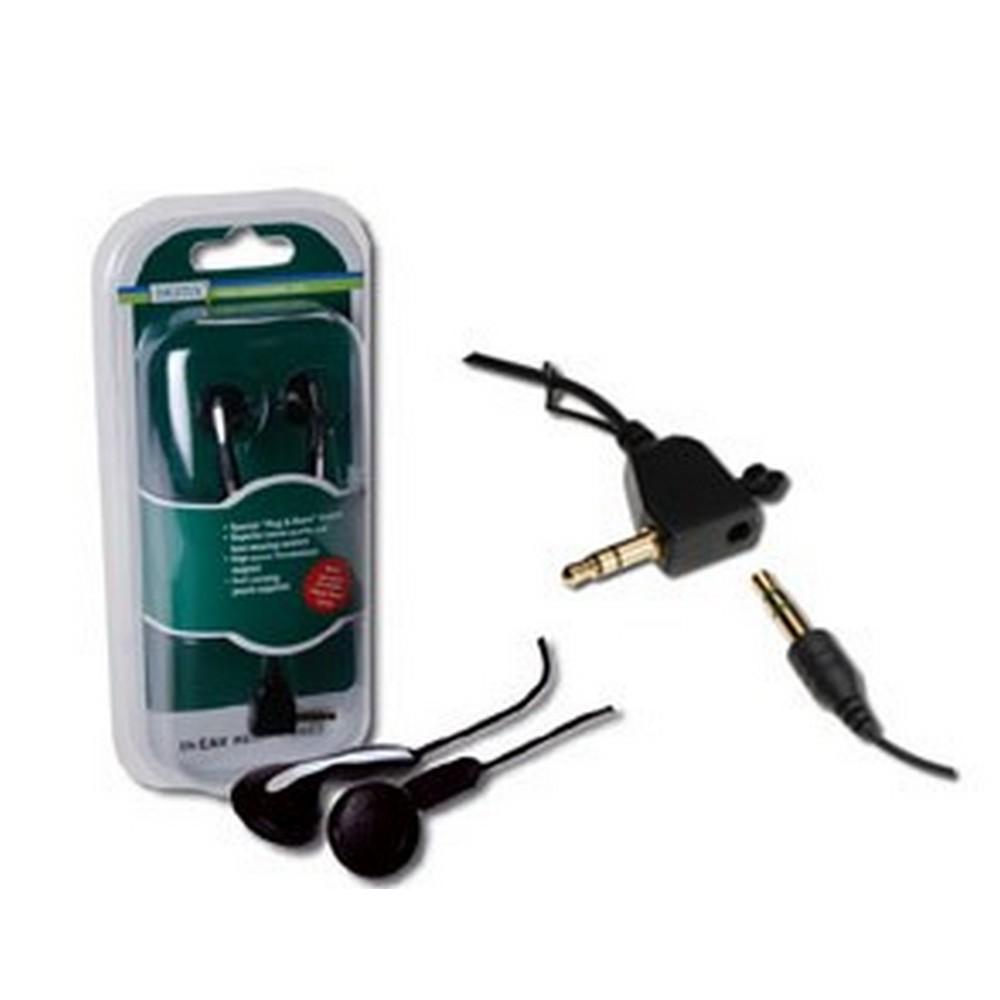 Digitus Yüksek Kaliteli Stereo Kulaklık, Paralel Kulaklık Bağlantısı için ilave jacklı