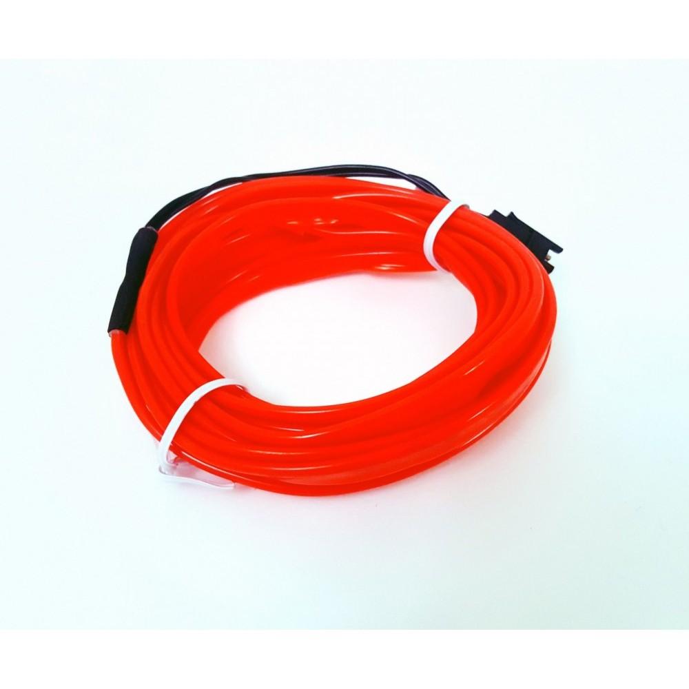 Femex 3 Metre İp Neon Led Fitili - Kumandalı 3 Modlu Pilli İnverterli Kırmızı