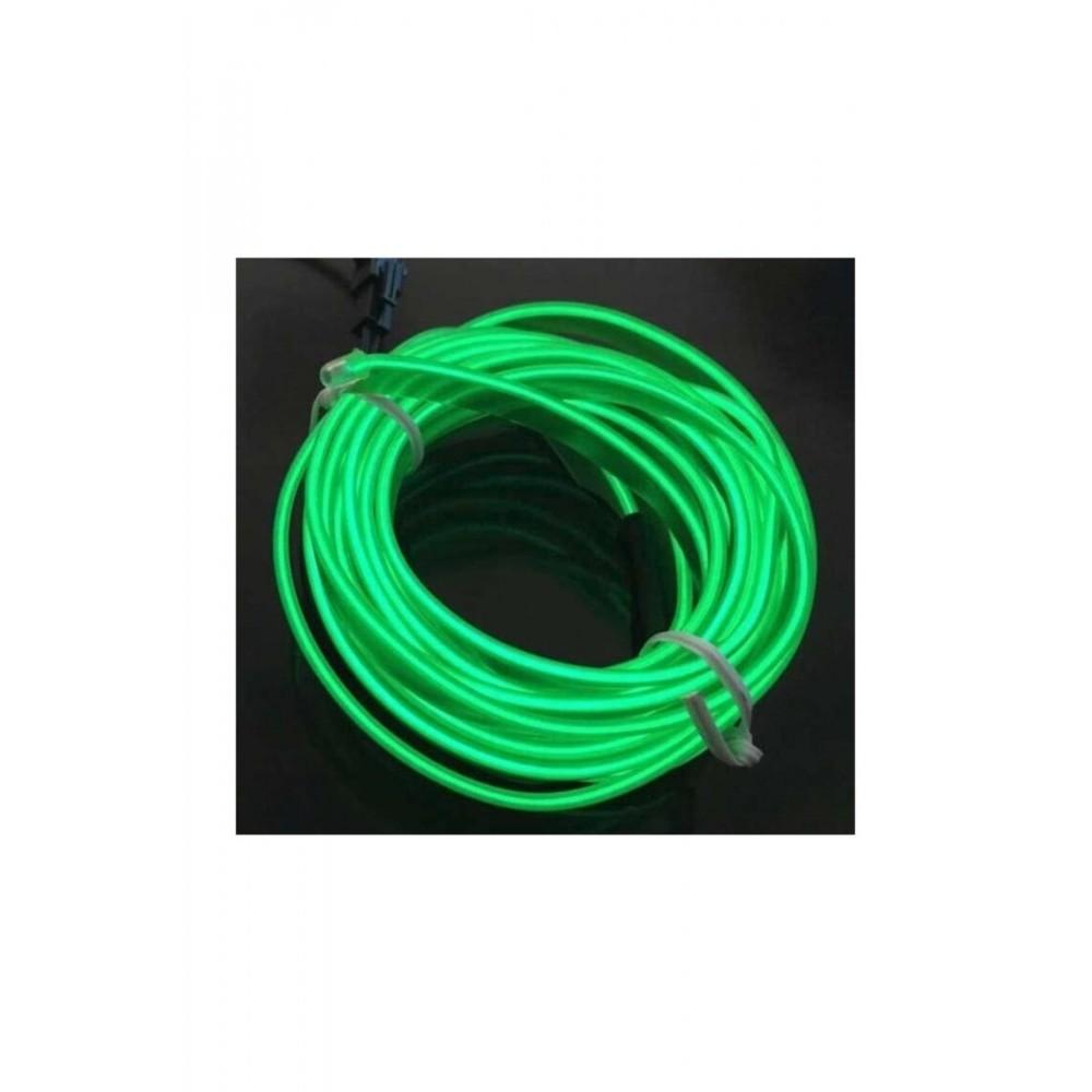 Femex 3 Metre İp Neon Led Fitili - Kumandalı 3 Modlu Pilli İnverterli Yeşil