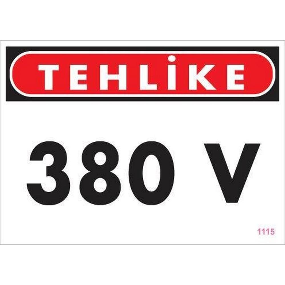 380 V Tehlike Uyarı Levhası 25x35 KOD:1115