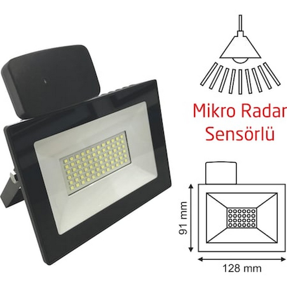 Helios 20 W Smd Radar Sensörlü Led Projektör