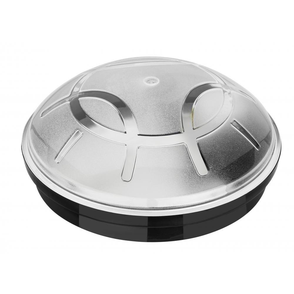 Horoz Nemli Yer Yuvarlak Siyah Beyaz Aplik E27-Ip64-Anti Shock-Glass Iı