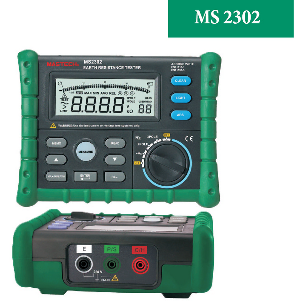 Mastech MS2302 Toprak Direnci Test Cihazı -Meger
