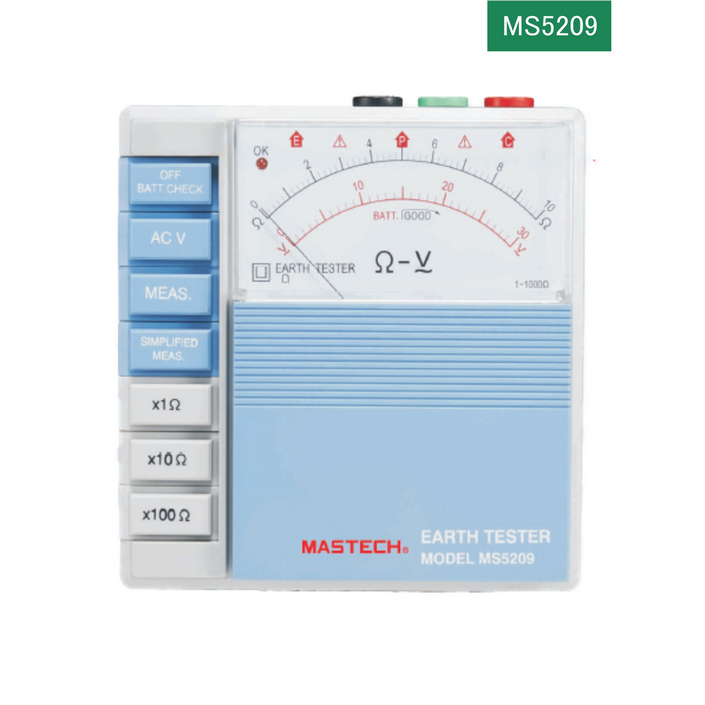 Mastech MS5209 Anolog Toprak Direnci Ölçer