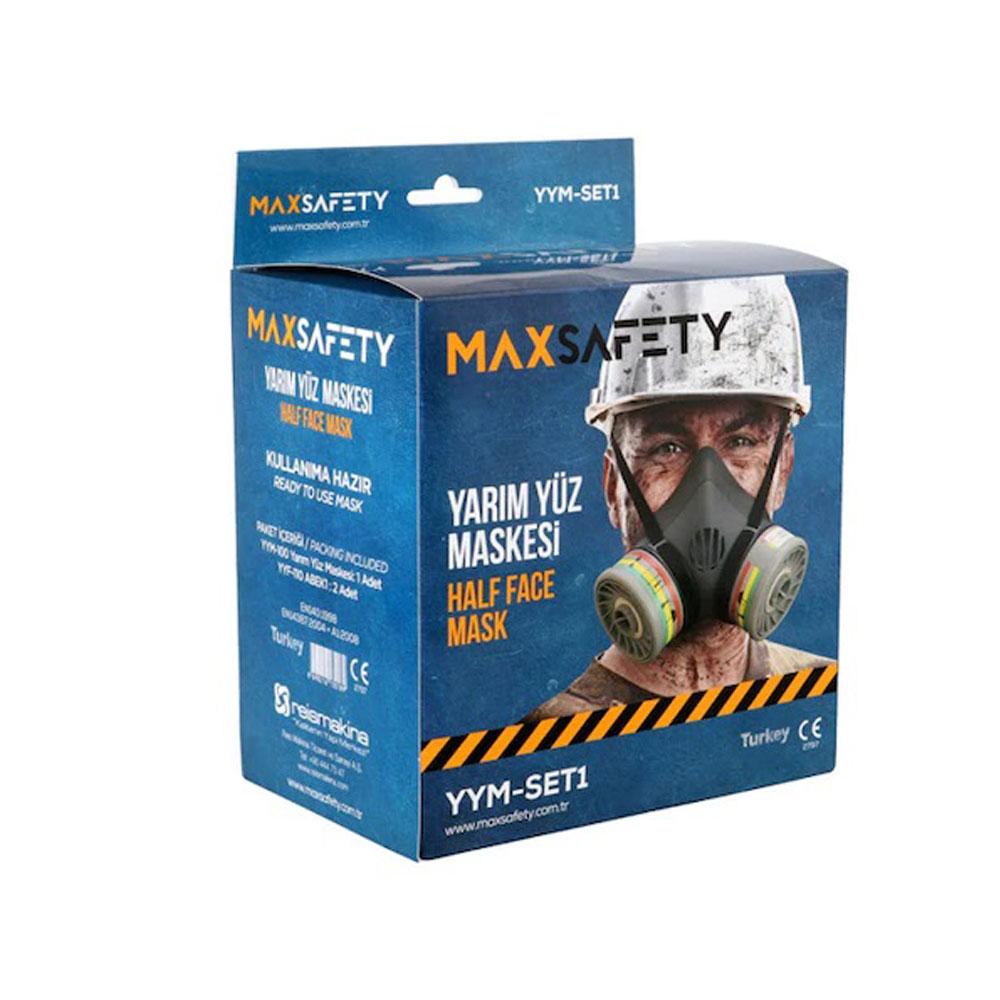 Max Safety Yarım Yüz Maskesi Solunum Koruyucu