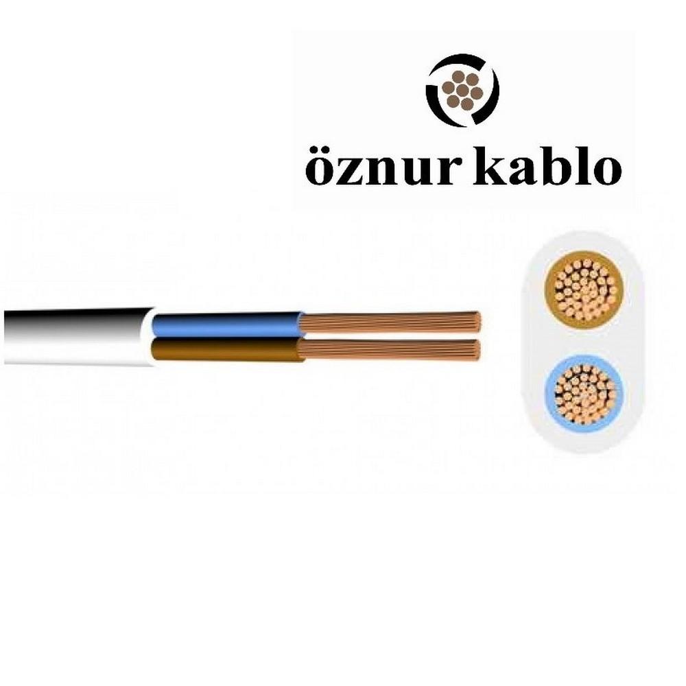 Öznur TTR 2X2,5 mm² Paket (100 m) Siyah