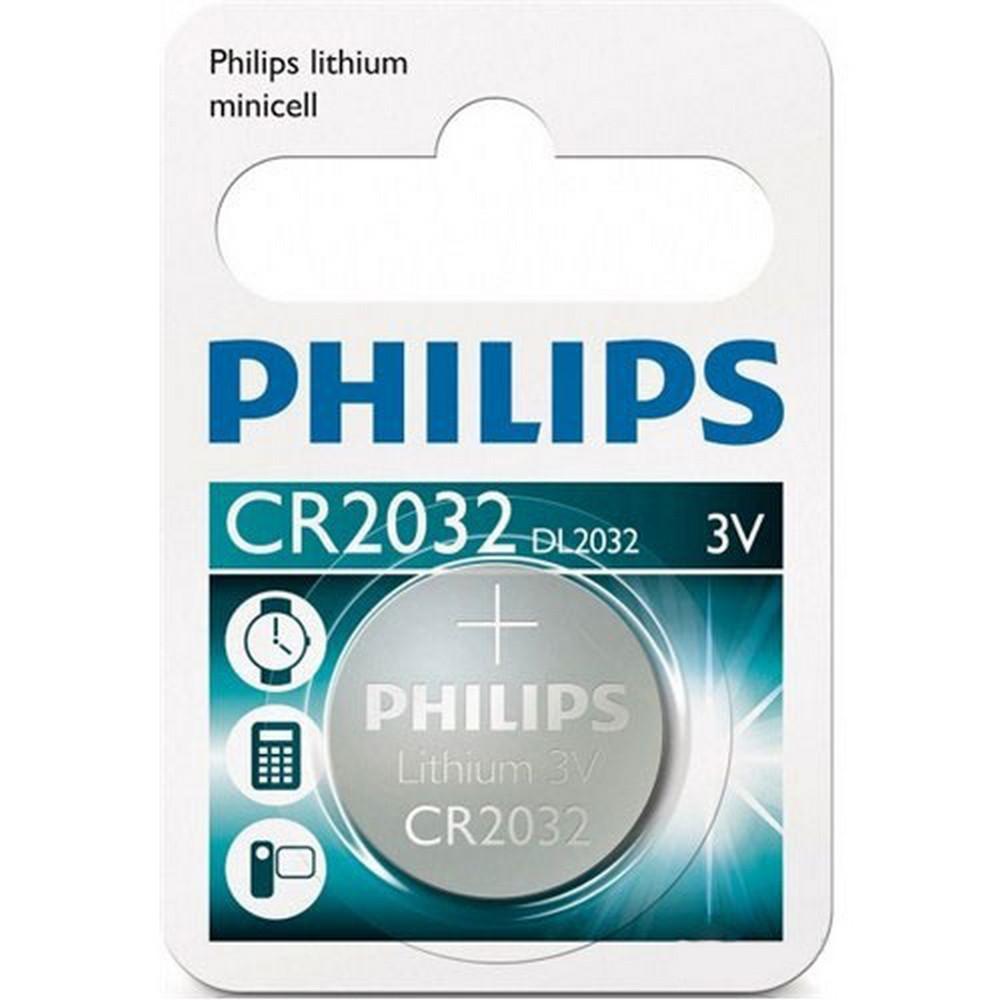 Philips Cr2032/01b Düğme Pil Cr2032 Lithium 3v (Saat,Hesap Mak,Kamera) Tekli Blister