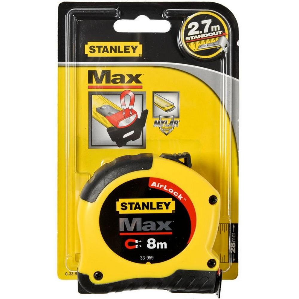 Stanley 0-33-959 Max. Manyetik Metre ( 8 MT x 28 MM. )