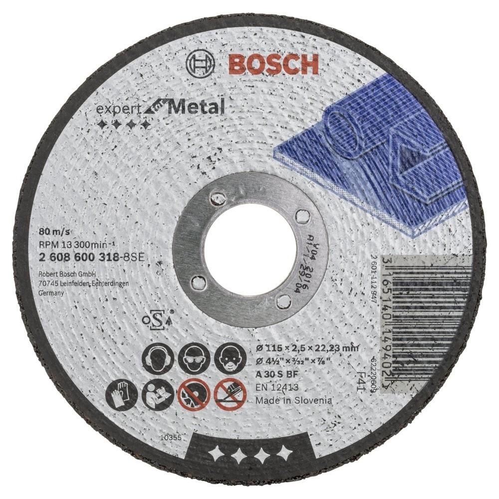 Bosch 115*25 mm Expert for Metal Düz