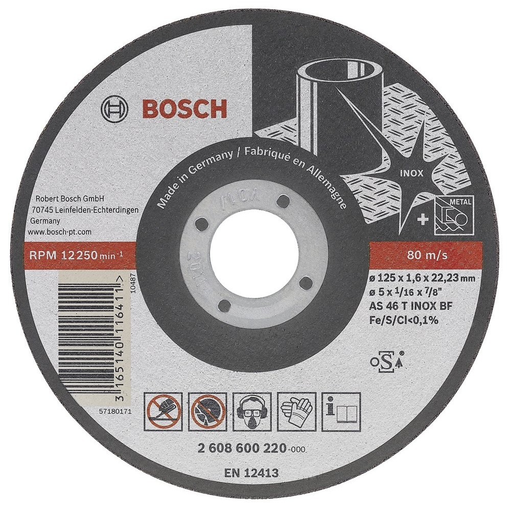 Bosch 115*10 mm Inox Rapido Turbo Seri