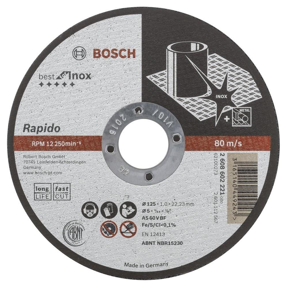 Bosch 125*10 mm Inox Rapido Turbo Seri