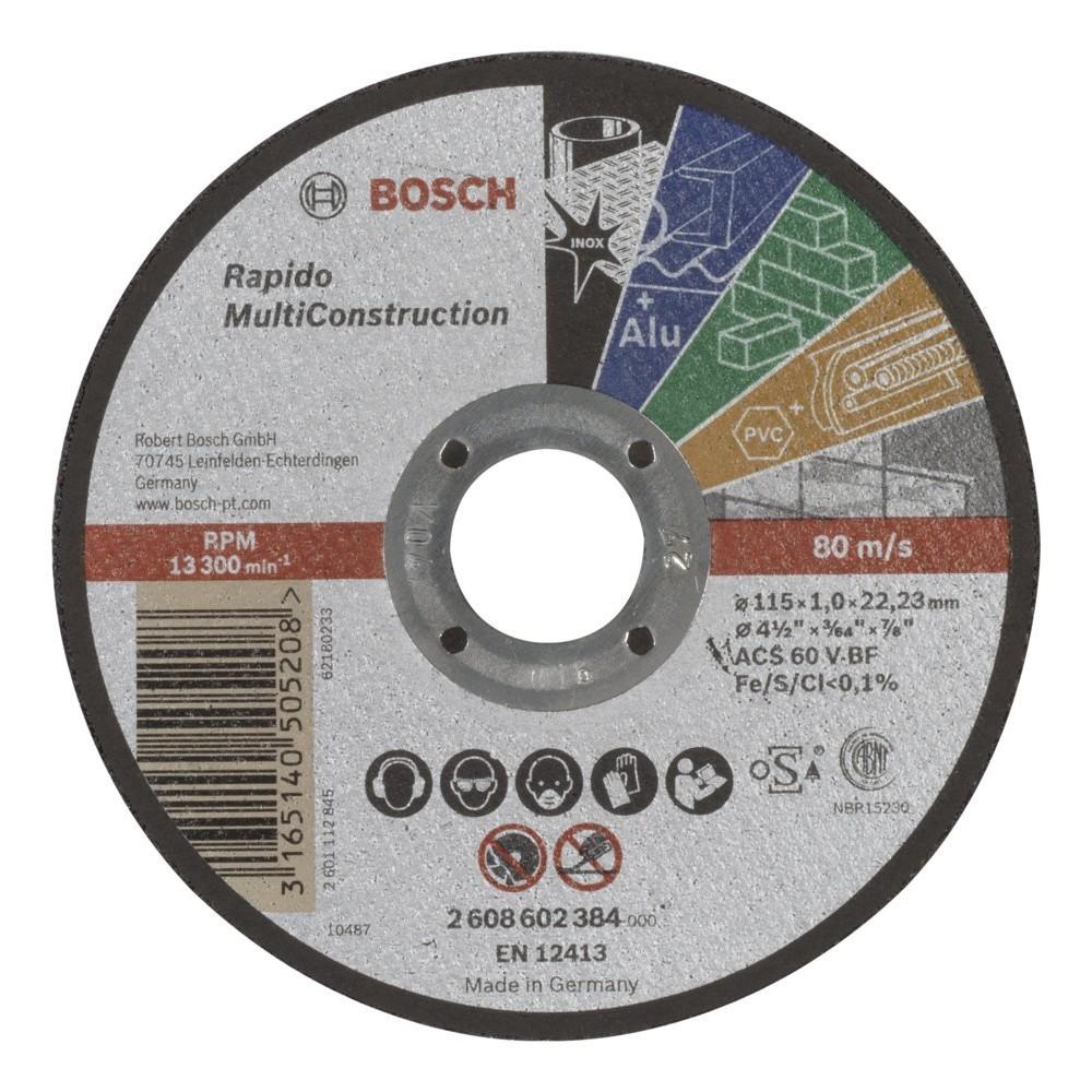 Bosch 115*10 mm Rapido MultiConstruction