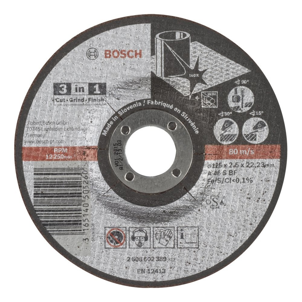 Bosch 2608602389 125x25 mm 3in1 Disk