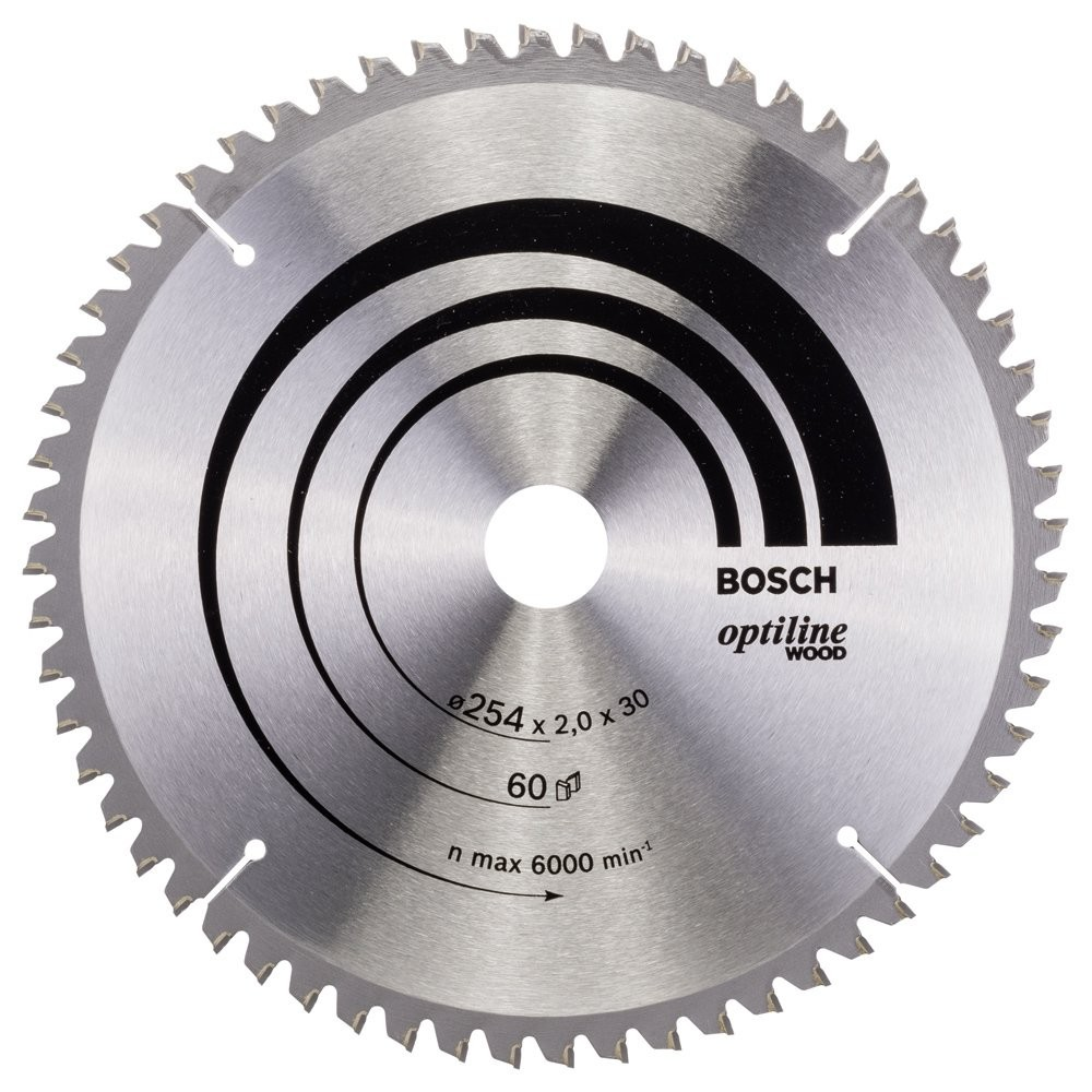 Bosch Optiline Wood 254*30 mm 60 Diş