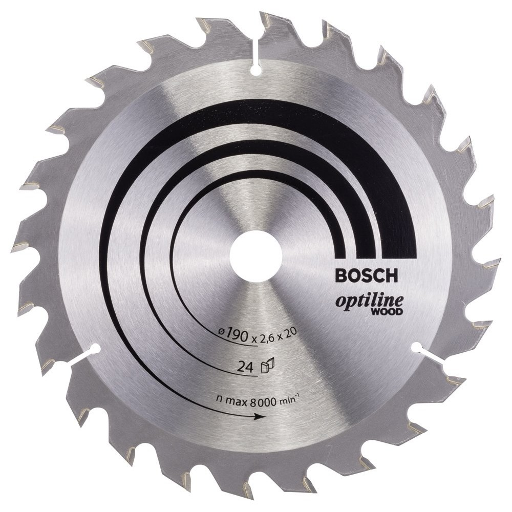 Bosch Optiline Wood 190*20/16 mm 24 Diş