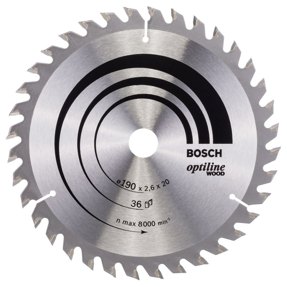 Bosch Optiline Wood 190*20/16 mm 36 Diş