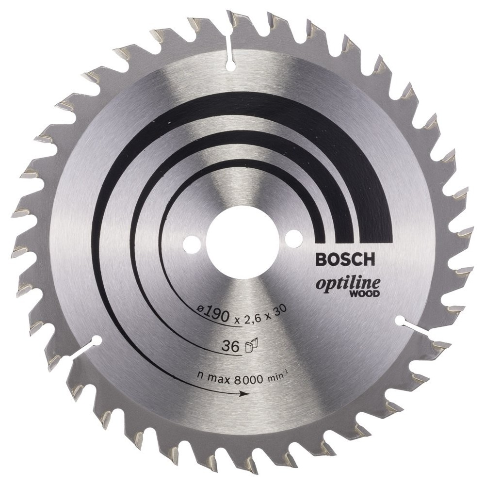 Bosch Optiline Wood 190*30 mm 36 Diş