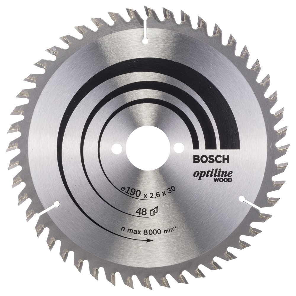 Bosch Optiline Wood 190*30 mm 48 Diş