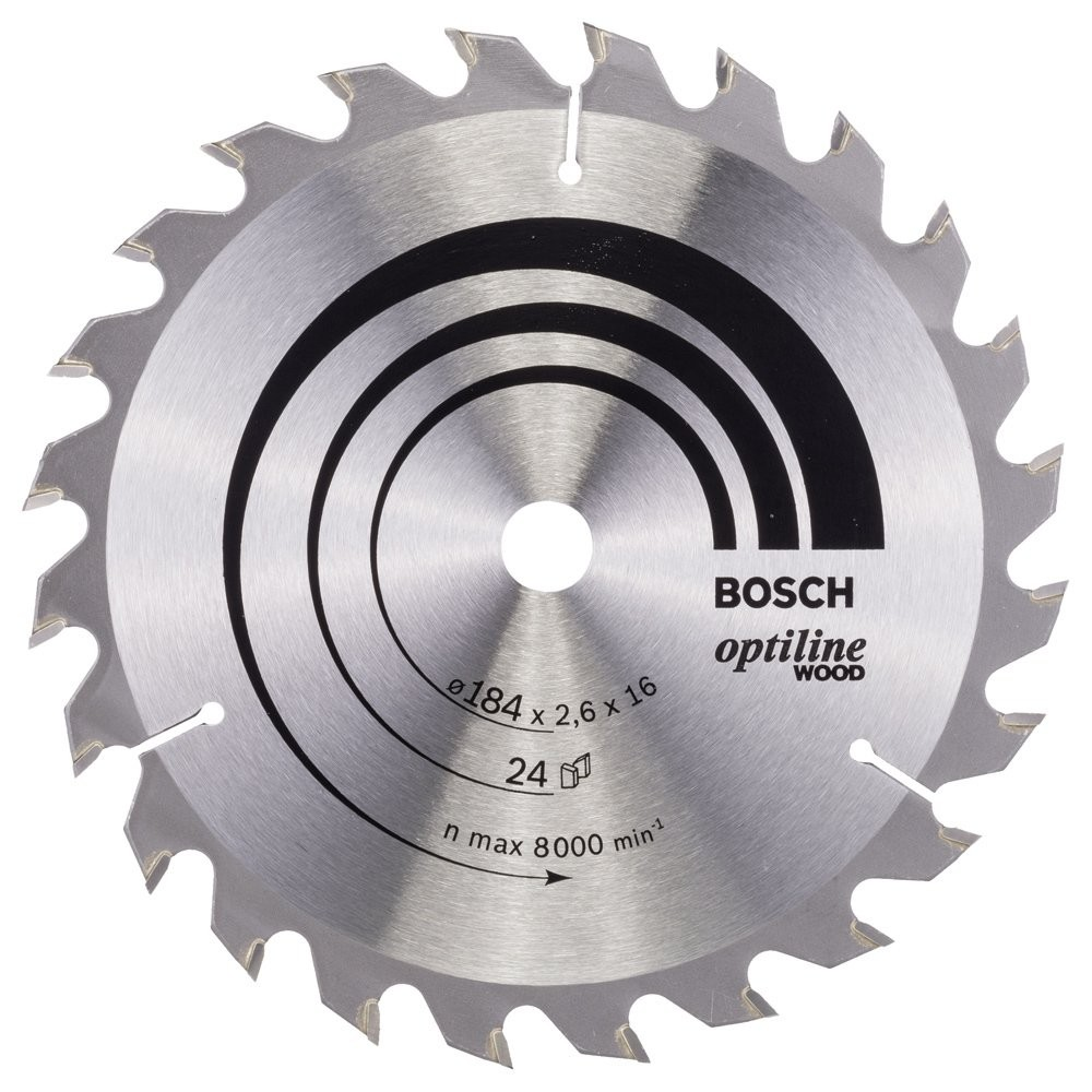 Bosch Optiline Wood 184*16 mm 24 Diş