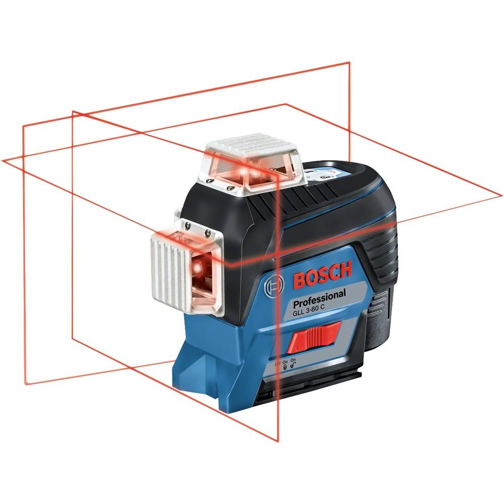 Bosch Professional GLL 3-80 C  & BT 150 360° Düzlemsel Hizalama Lazeri (3 Düzlemde)