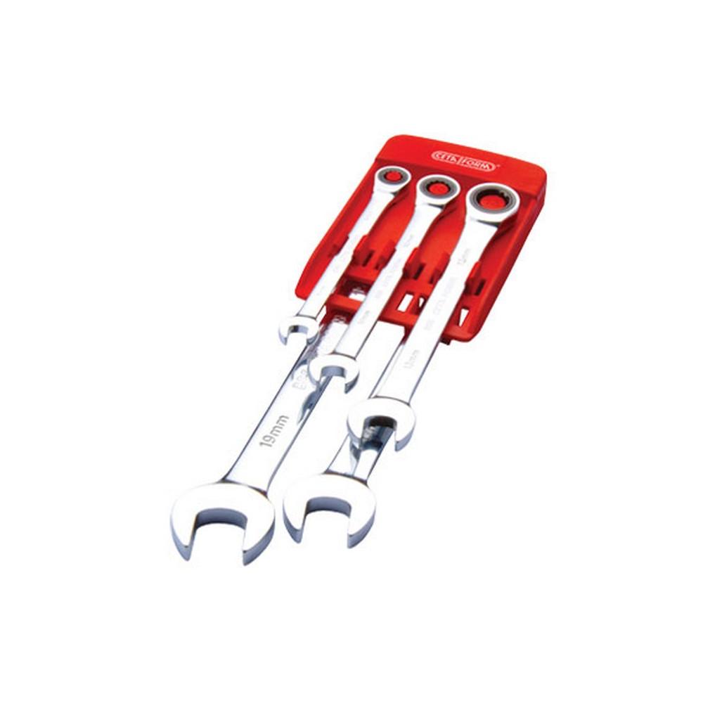 Ceta-Form 5 Parça C-GEAR Cırcırlı Kombine Anahtar Takımı Düz Plastik Klipsli