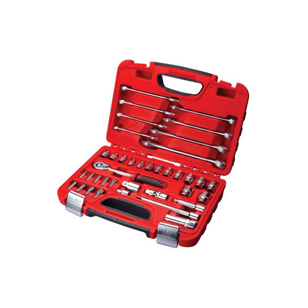 Ceta-Form 38 Parça 3/8 6 Köşe Lokma ve Anahtar Seti Plastik Çantalı