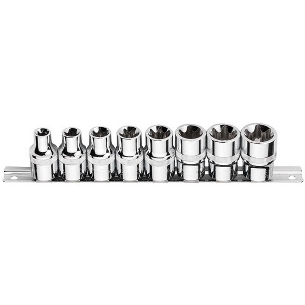 Ceta-Form 8 Parça 3/8 Dış TORX Lokma Anahtar Takımı Raylı