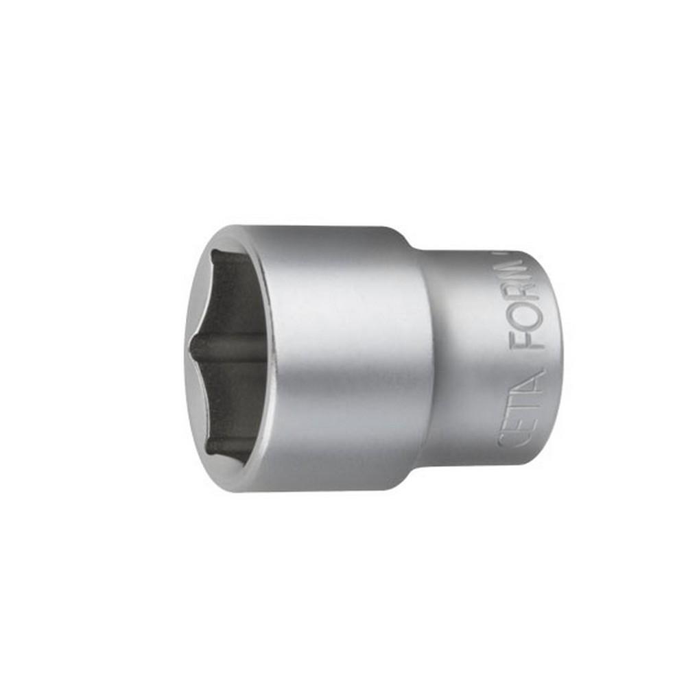 Ceta-Form 6 Köşe Lokma Anahtar Mat Krom 1/2 inç 12 Mm