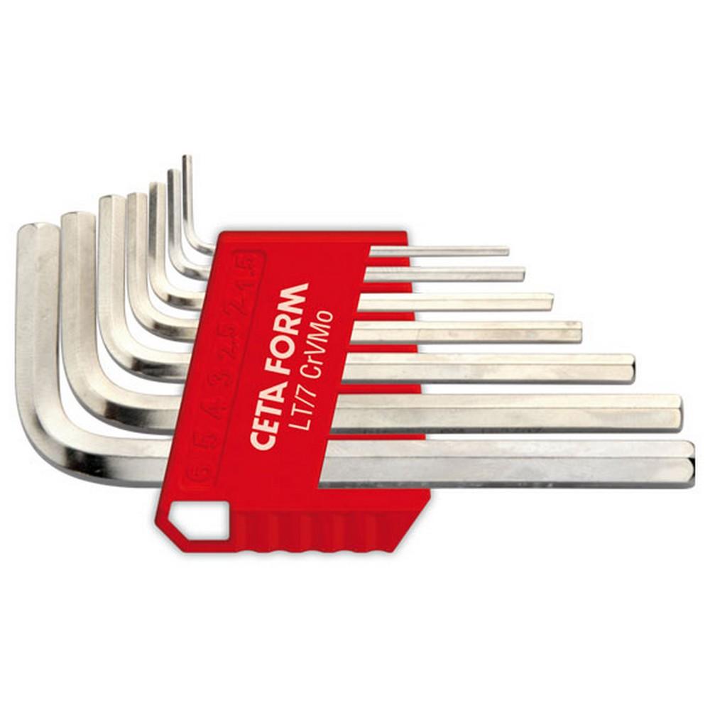 Ceta-Form 7 Parça L Allen Anahtar Takımı (Kısa Tip - Nikel Kaplı)