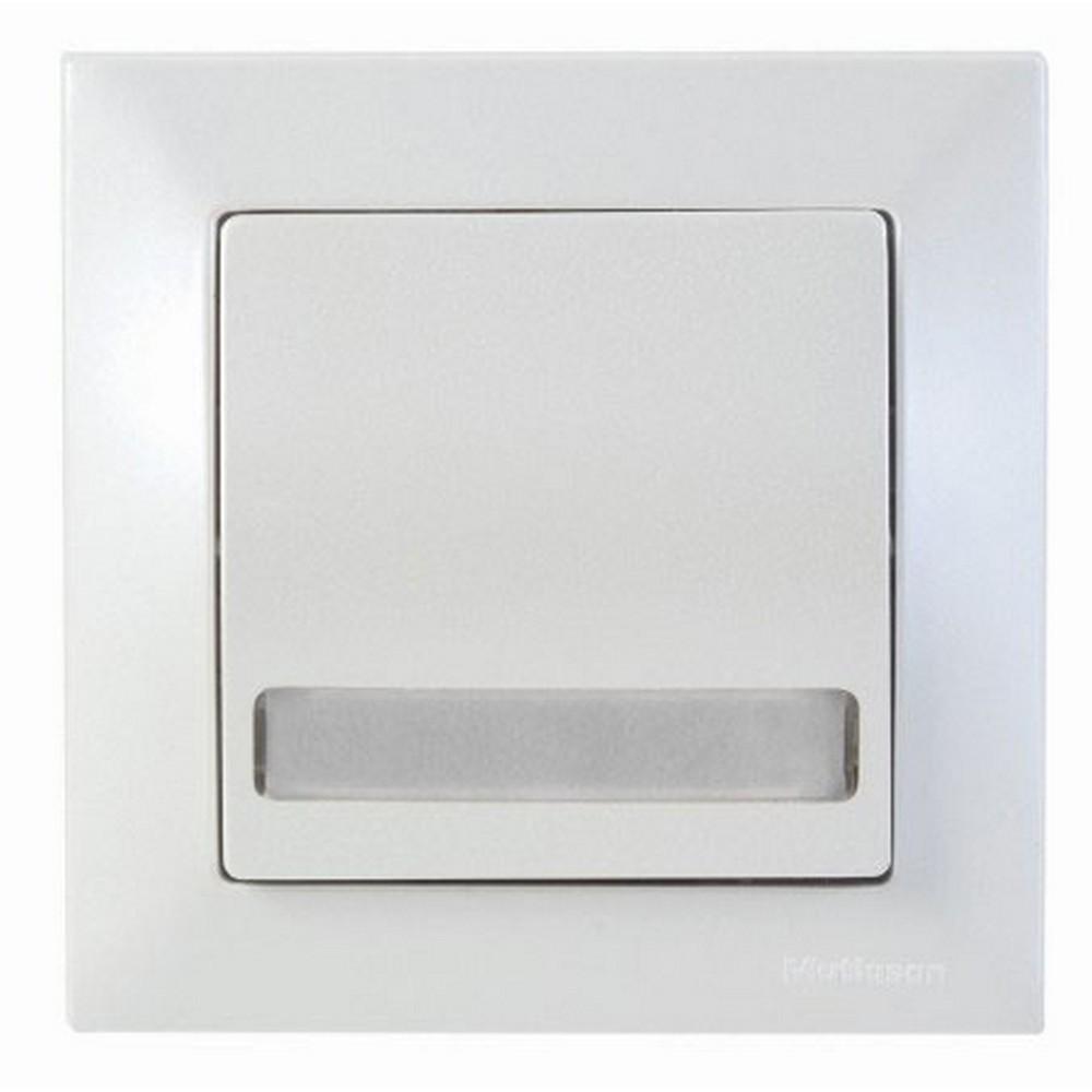 Mutlusan Candela Işıklı Etiketli Anahtar 220V Sedefli Beyaz