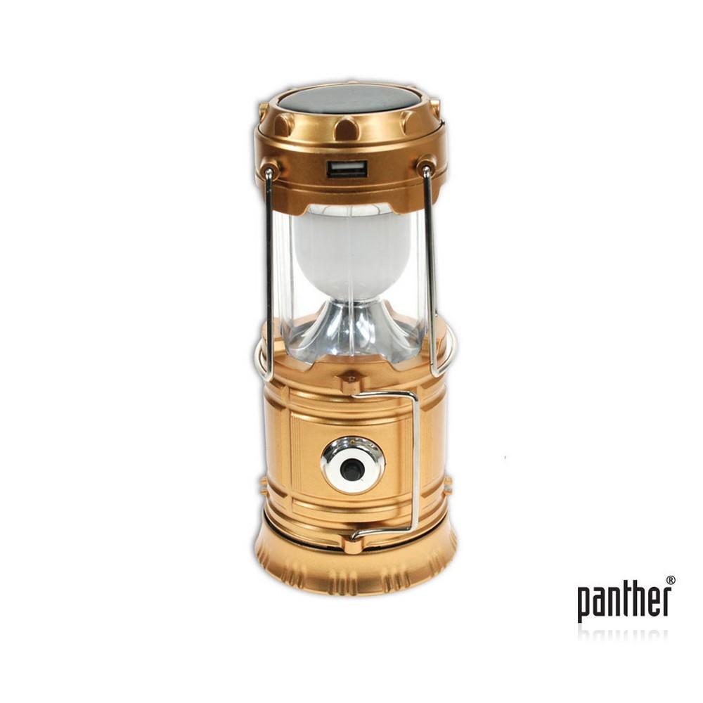 PANTHER PT-5700 5 LED+1AD 3W LED USB ŞARJLI SOLAR KAMP LAMBASI