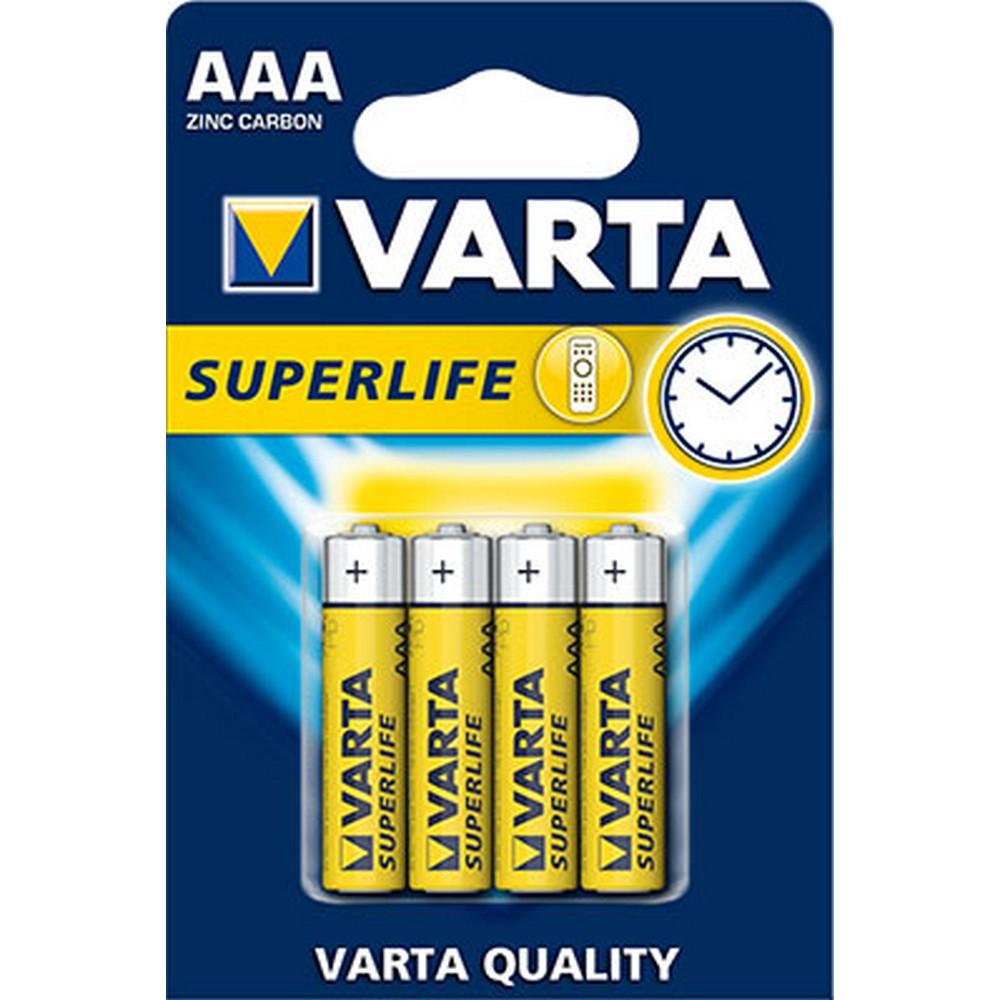 Varta 2003-4 SUPERLIFE AAA X 4 Çinko Karbon (Blister)