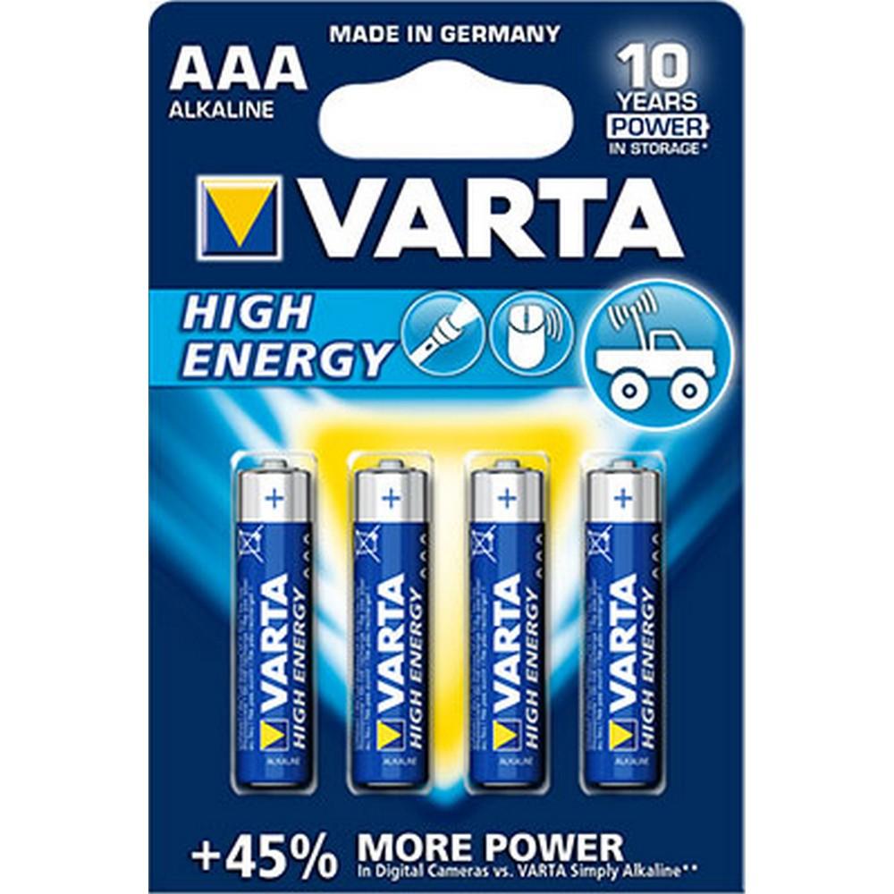 Varta 4903-4 HIGH ENERGY AAA X 4 Alkalin