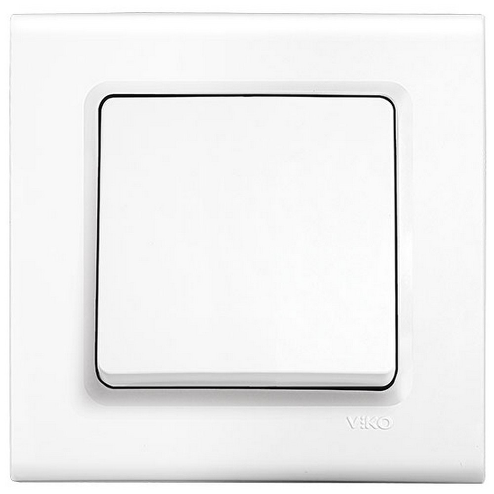 Viko Linnera/Rollina Sıva Altı İki Kutuplu Anahtar - Beyaz (Çerçevesiz)