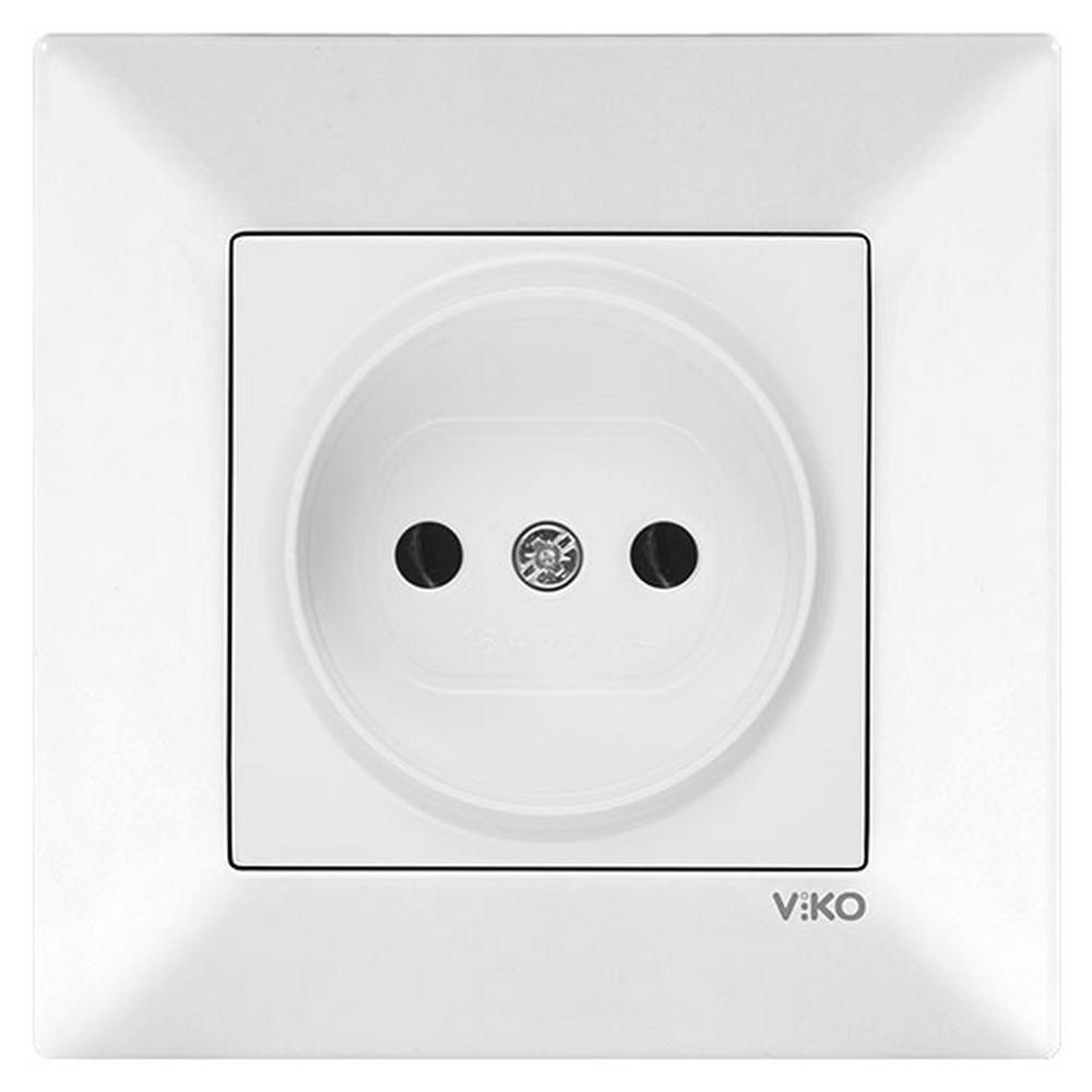 Viko Karre/Meridian Sıva Altı Priz - Beyaz (Çerçevesiz)