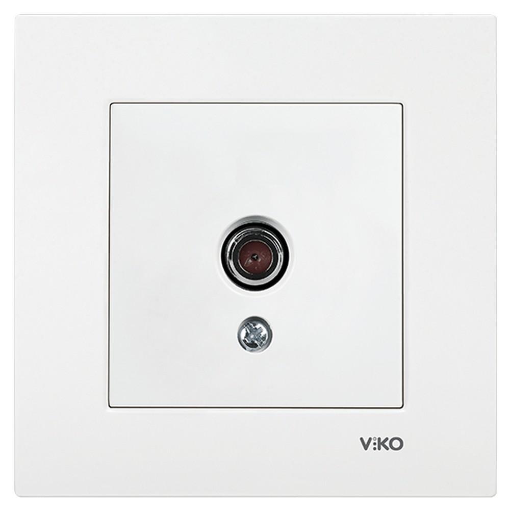 Viko Karre Sıva Altı TV Prizi Sonlu - Beyaz (Çerçeveli)