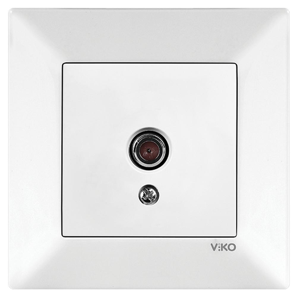 Viko Meridian Sıva Altı TV Prizi Geçişli (8-12dB) - Beyaz (Çerçeveli)