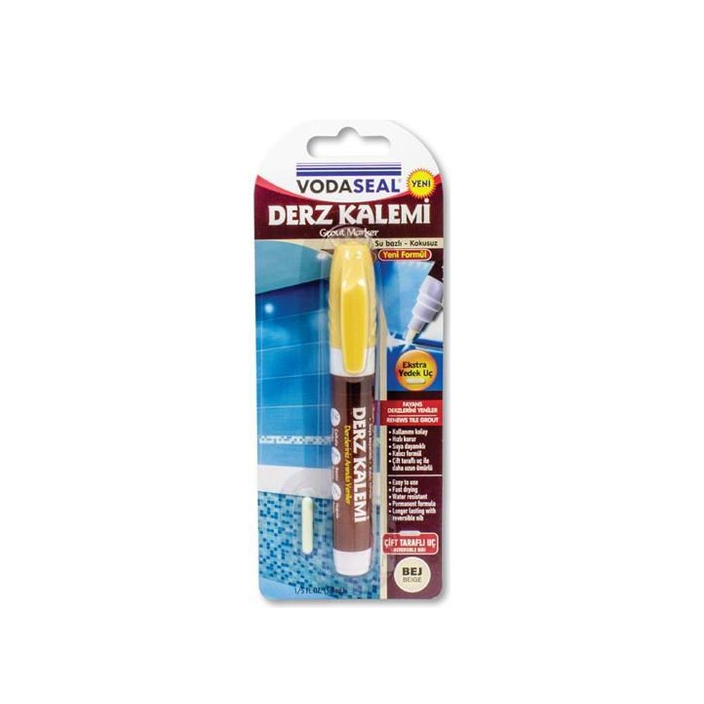 Vodaseal Çift Uçlu Su Bazlı Kokusuz Kalıcı Derz Kalemi Bej
