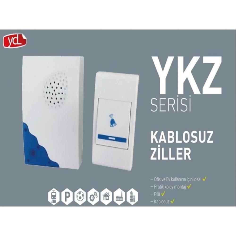 Ycl Kablosuz Kapı Zili (Farklı Seçenekler)  Ykz Serisi Kablosuz Zil 80-100m Mesafeli 36 Ses Pratik Ve Kolay Ykz-1005 ( Mavi)